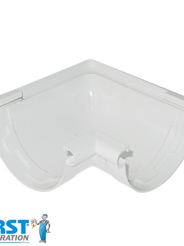 Поворот Желоба First Plast 125 Белый