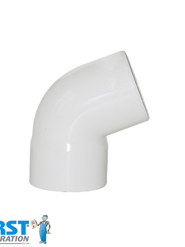 Колено 67 First Plast 125 Белое