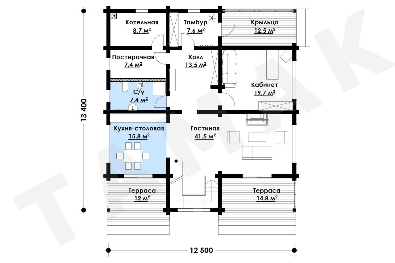 Casă 280 m.p. - Planul etajelor