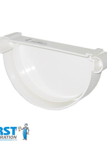 Заглушка Желоба First Plast 125 Белая