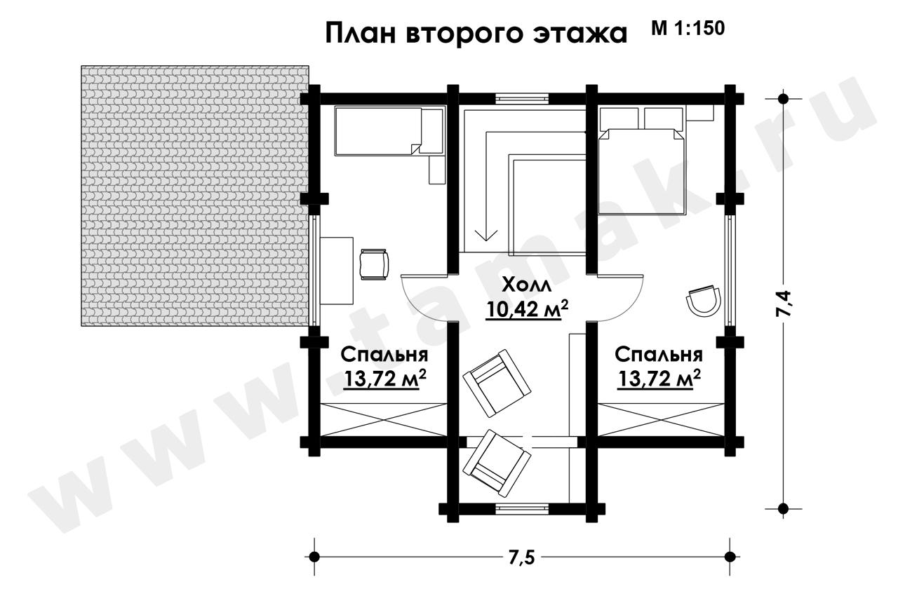 Casă 102 m.p. - Planul etajelor