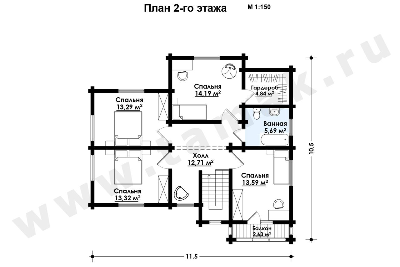 Casă 194 m.p. - Planul etajelor