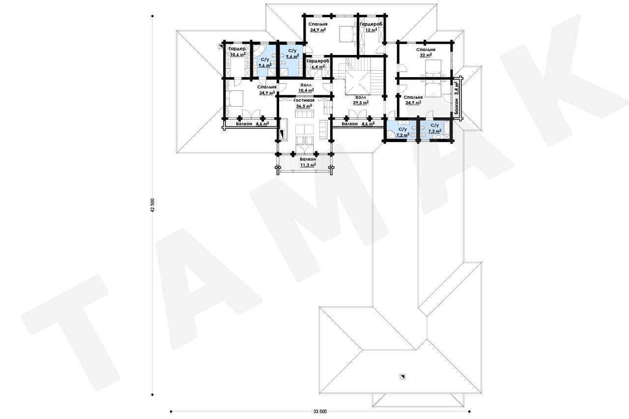 Коттедж - Планы этажей