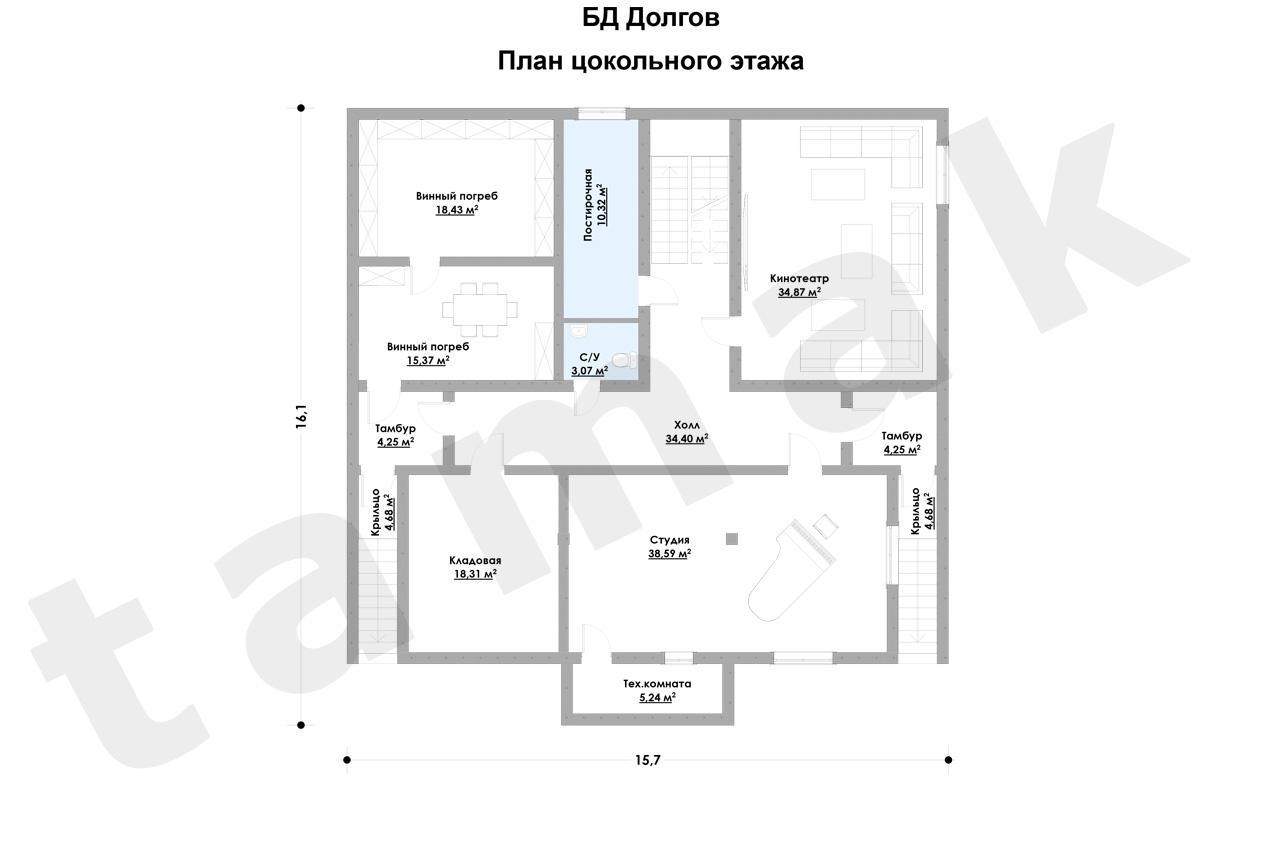 Casă 426 m.p. - Planul etajelor