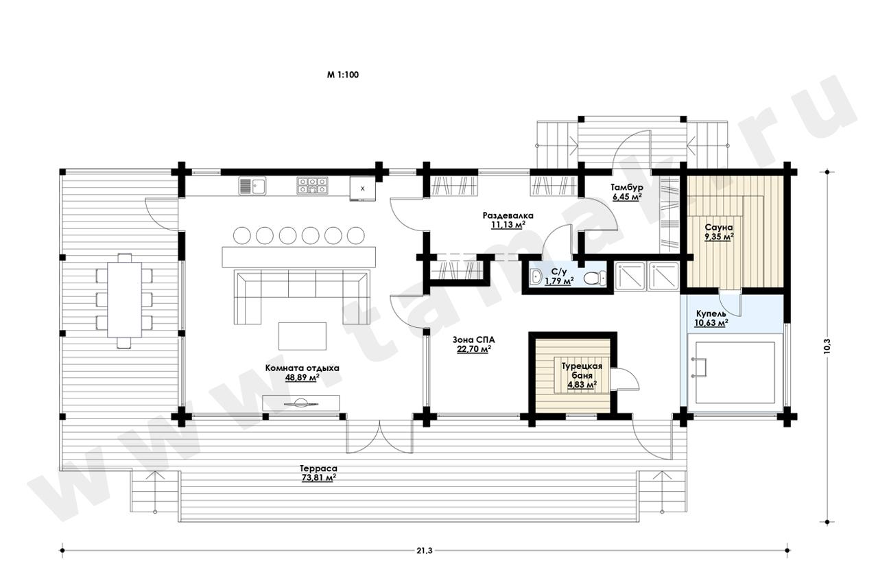Casă 190 m.p. - Planul etajelor