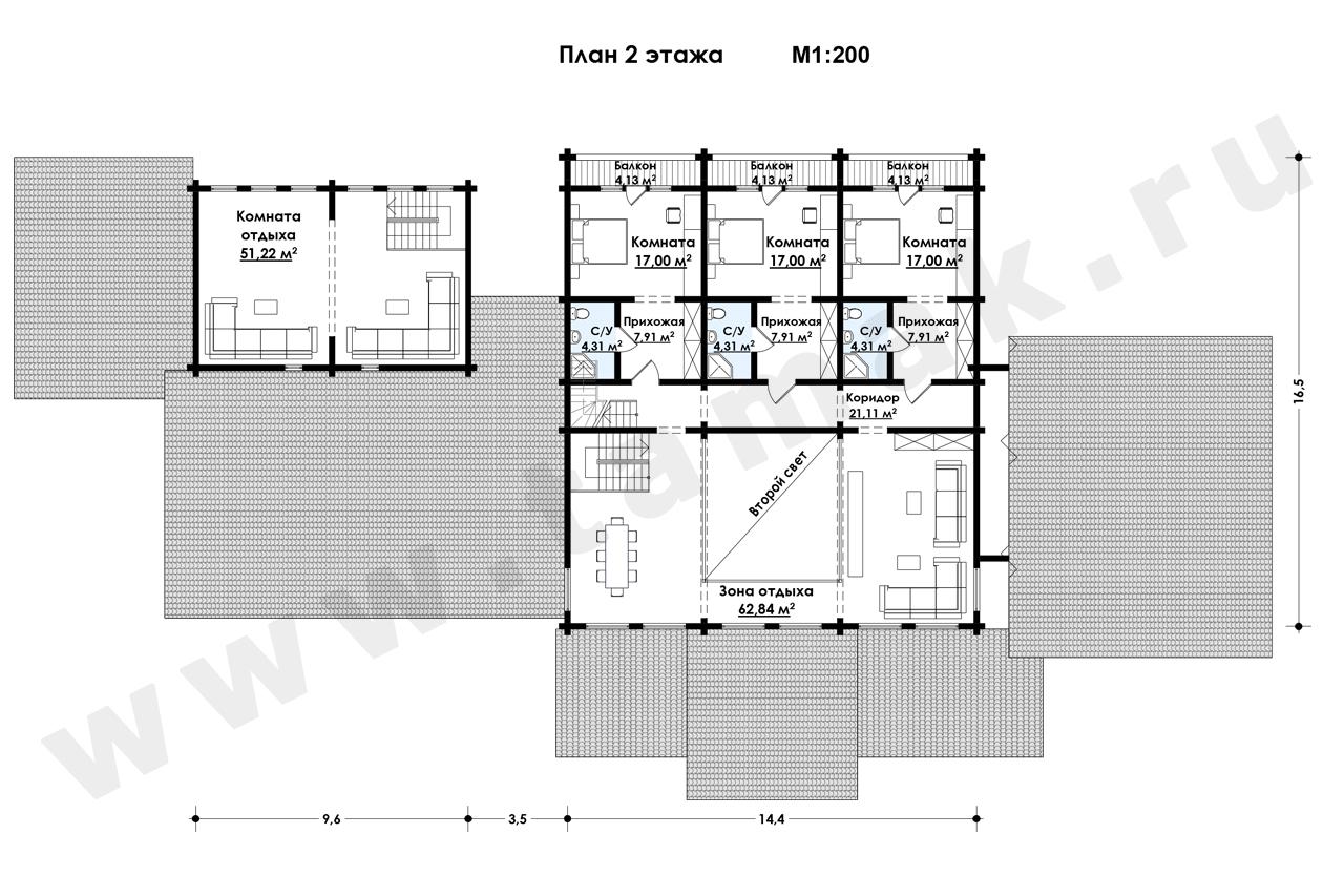 Casă 831 m.p. - Planul etajelor