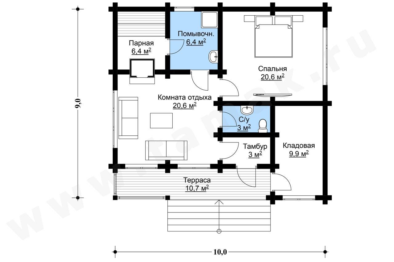Baie 81 m.p. - Planul etajelor