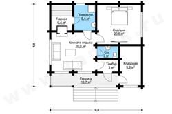 Баня - Планы этажей