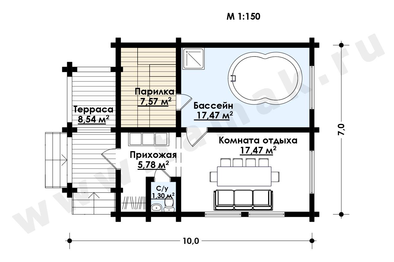 Baie 58 m.p. - Planul etajelor
