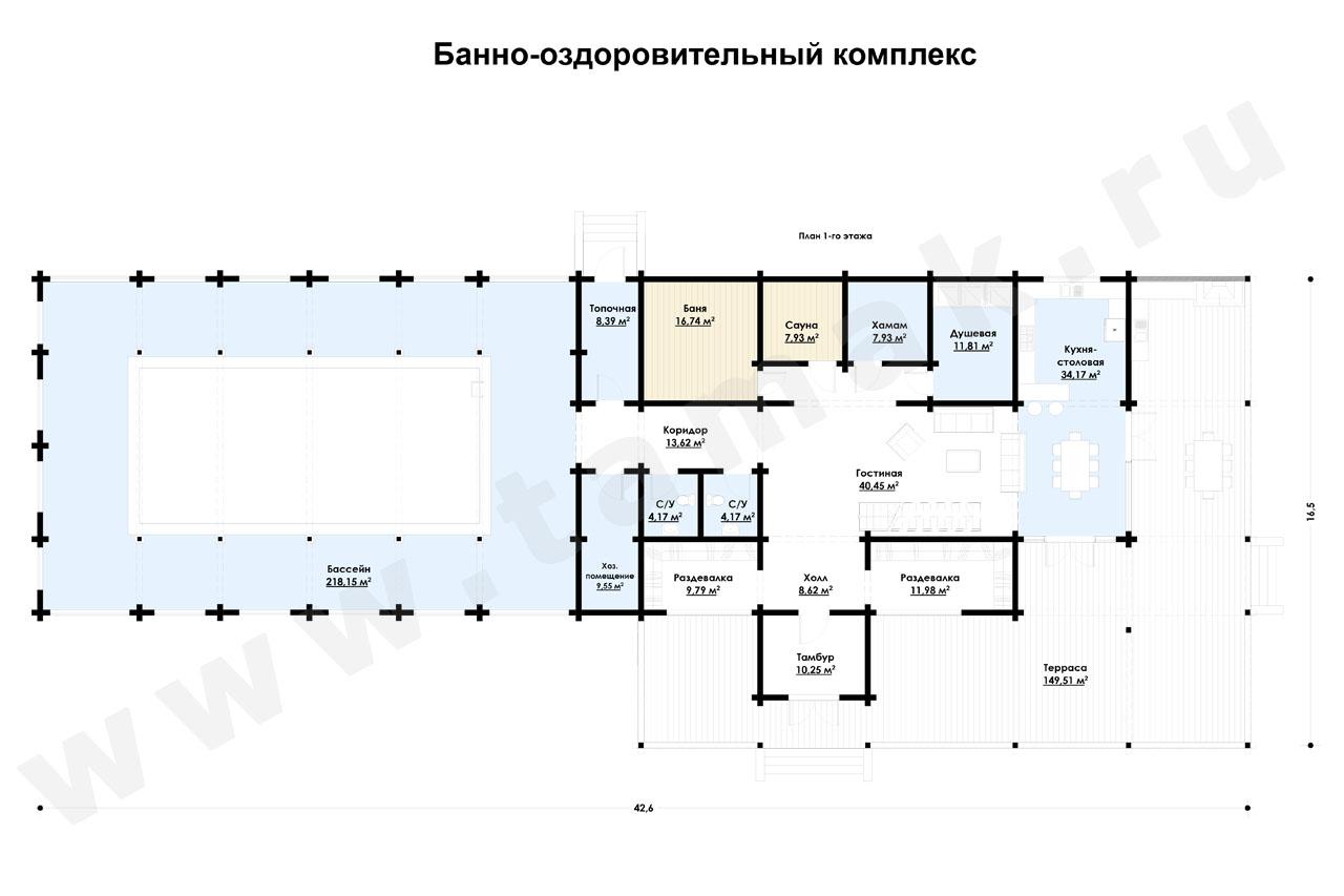 Casă 727 m.p. - Planul etajelor