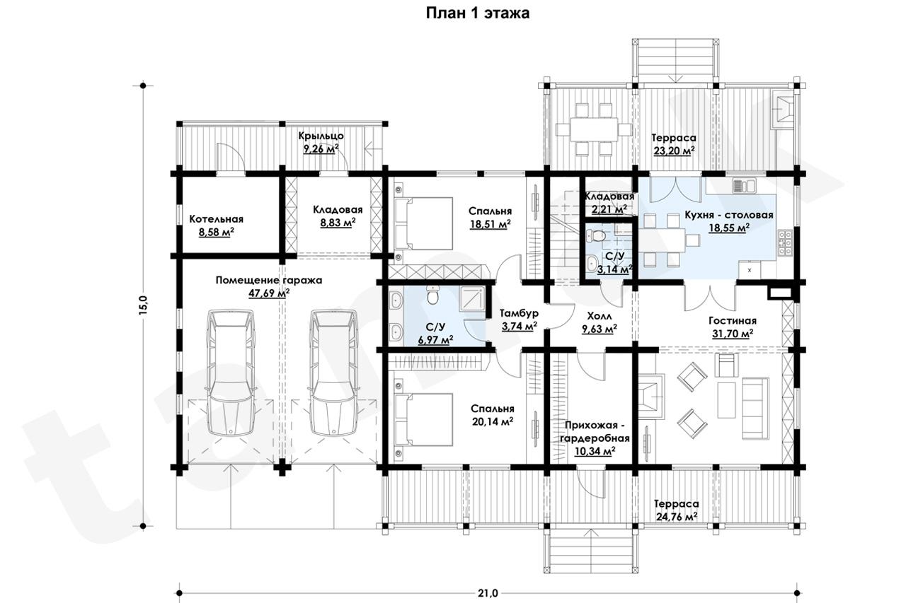 Casă 389 m.p. - Planul etajelor