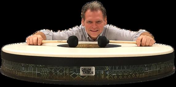 "Meet Erik Dunton, 40"" Drum Table"