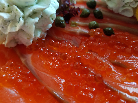 Cured Salmon with Salmon Roe