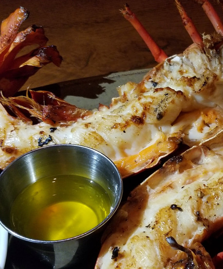 Spiny Lobster, Charcoal Grilled with Coleslaw
