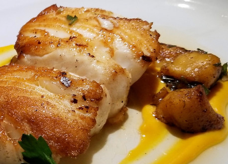 Wild Ross Sea Chilean Sea Bass, with Butternut Squash Gnocchi and Sage Brown Butter