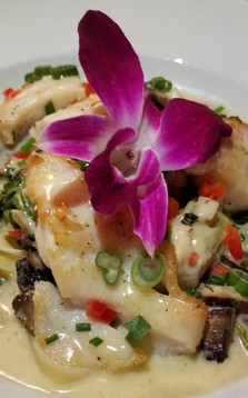 Tilefish Over Wild Mushrooms with a Lemon Beurre Blanc