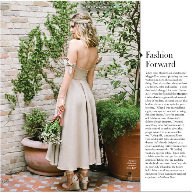 Margaret Collection featured in the Fall/Winter 2018 issue of Modern Luxury Weddings Houston