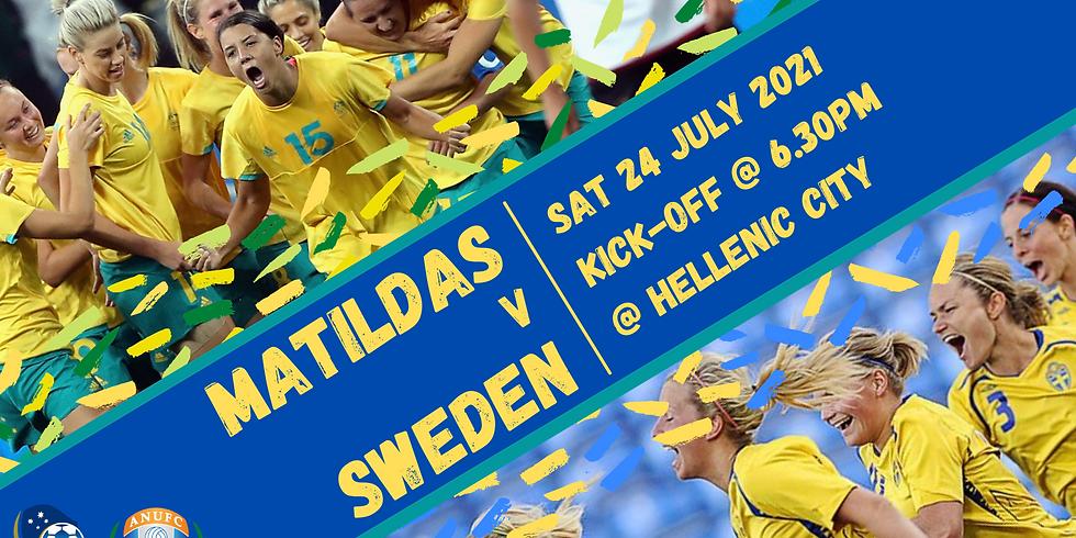 **Matildas v Sweden** ANUWFC/ANUFC Joint Watch Party!
