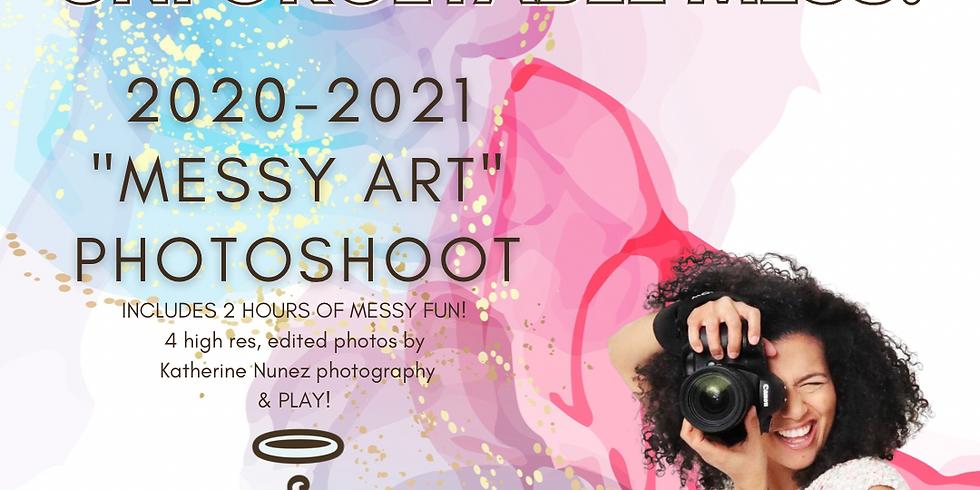 Messy art photoshoot