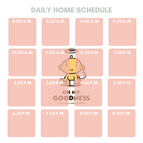 DAILY HOME SCHEDULE OMG KIDS