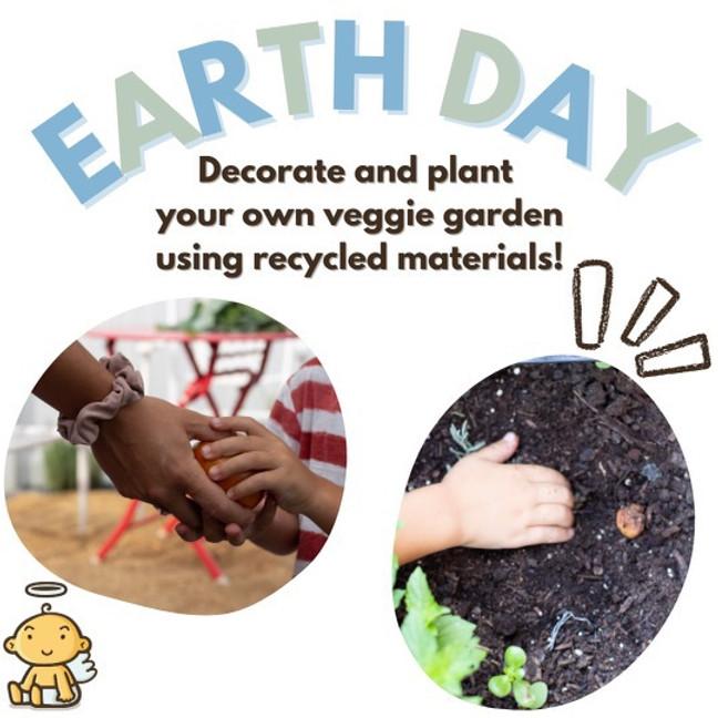Earth day veggie garden!