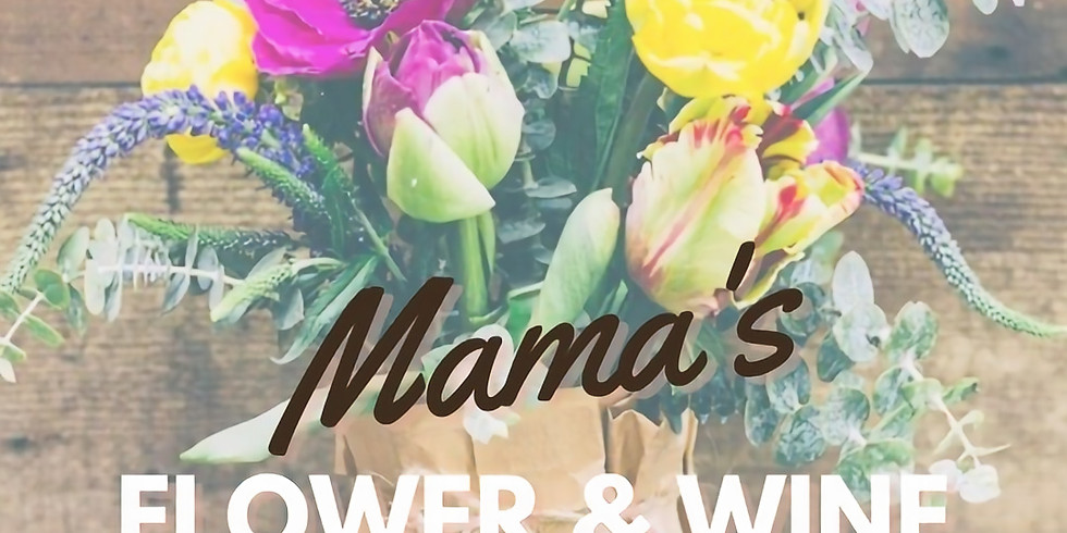 DIY floral bouquet & wine workshop