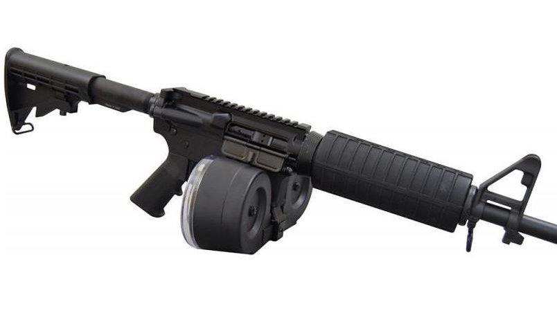 RWB AR-15 .223/5.56 Dual Drum Magazine - Black   100rd   Gen 2
