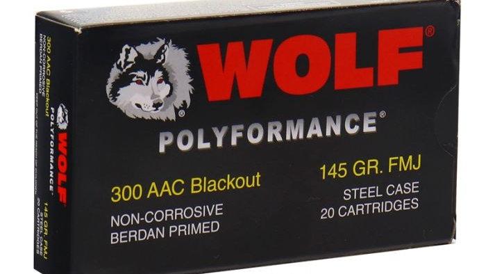 Wolf Steel Case .300 Blackout Rifle Ammo- 145 Grain | FMJ