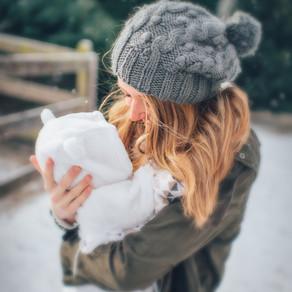 Mit Baby durch den Winter -  Tragen bei Schnee und Kälte