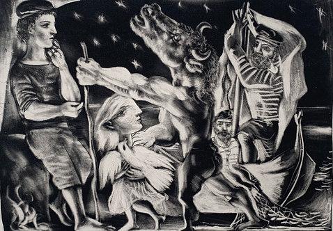 Pablo Picasso (Spanish, 1881–1973) 盲目的牛頭人 MINOTAURE AVEUGLE GUIDE PAR UNE FILLET