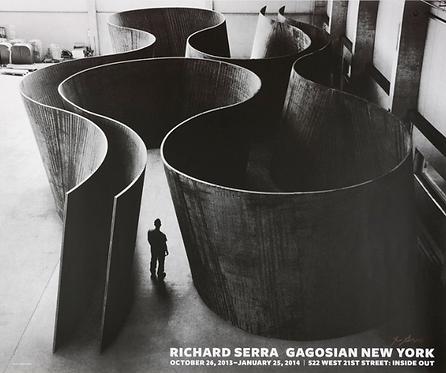 Richard Serra Inside Out (Hand Signed) 2014