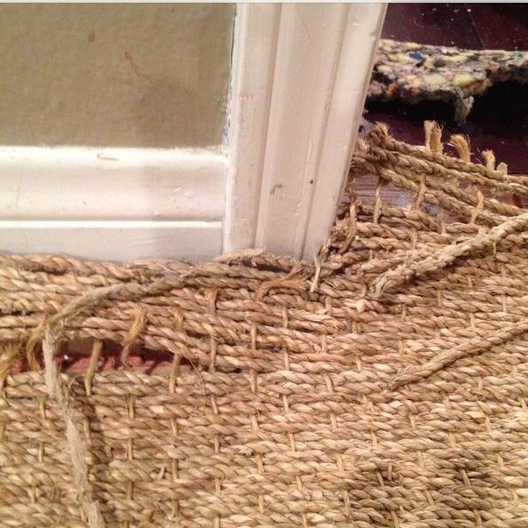 Sisal doorway repair
