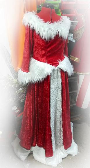 santa princess dress