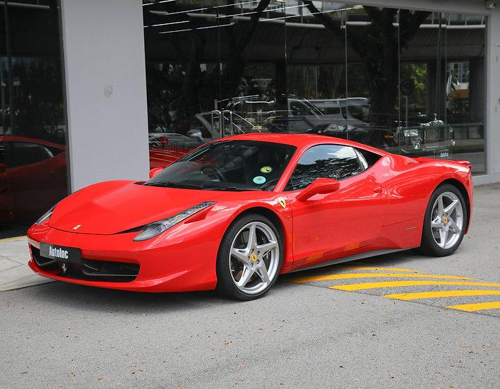2011 Mar Ferrari 458 Italia (New 10-yr COE)