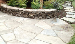 Flagstone Patio/ Stone Wall
