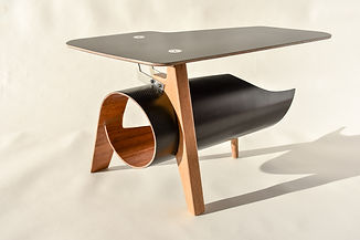 Wood and Carbon Wodri Table