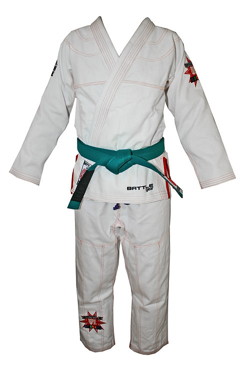 BATTLE KIDS BJJ Brazilian Jiu Jitsu White Kimono / Gi by Battle Gear