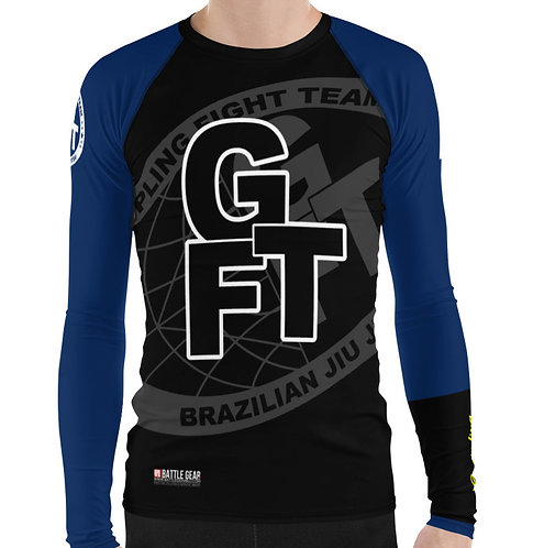 Blue Ranked GFTEAM International Long Sleeve NO GI MMA Rashguard