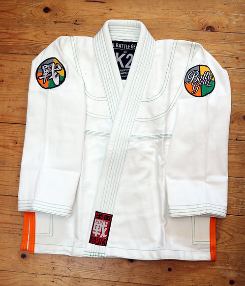 PROGRESSIVE White Kids Kimono / Gi by Battle Gear