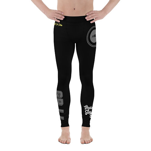 GBJJ Black Male NO GI MMA Spats Leggings