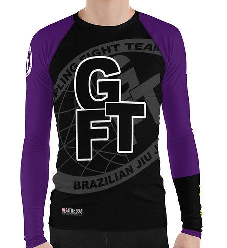 Purple Ranked GFTEAM International Long Sleeve NO GI MMA Rashguard