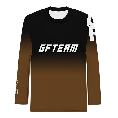 Brown GFTEAM Long Sleeve NO GI MMA Rashguard