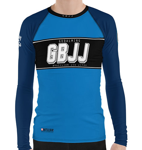 Blue Godalming BJJ Long Sleeve NO GI MMA Rashguard Male or Female