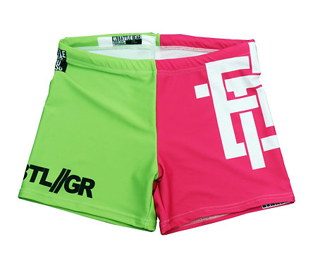 BTLGR Vale Tudo Shorts Pink / Green