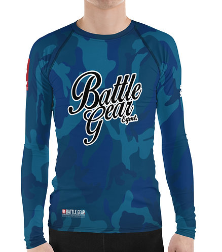 V4 Blue Camouflage Long Sleeve NO GI MMA Rashguard