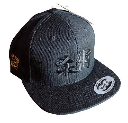 Jiu jitsu Kanji Black Snap Back Cap