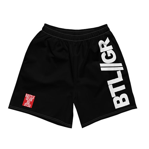 REG Mid Thigh Grappling Shorts Black