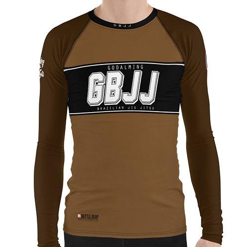 Brown Godalming BJJ Long Sleeve NO GI MMA Rashguard Male or Female