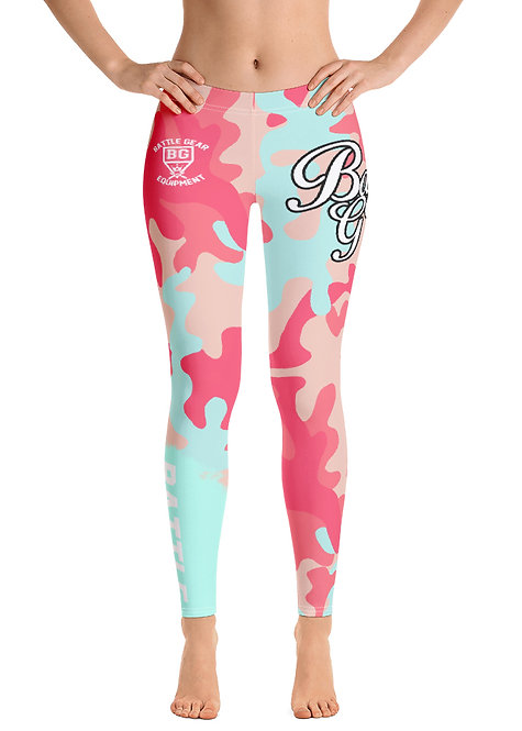 Arid Pink Camouflage Female Spats Leggings