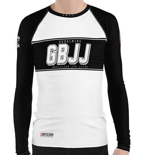 White Godalming BJJ Long Sleeve NO GI MMA Rashguard Male or Female